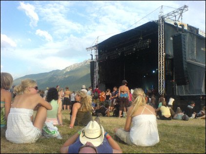 The Main Stage in front of Mount Currie, Live at Pemberton Festival 2008, Pemberton, BC, Canada